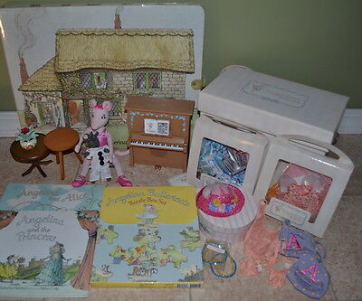 LARGE LOT AMERICAN GIRL ANGELINA BALLERINA Piano Outfits Book Puzzles Storyboard