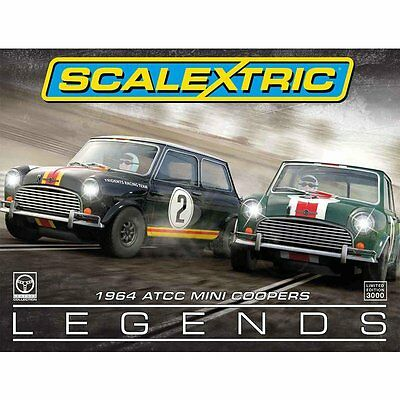 Scalextric 1964 Atcc Racing Legends Mini Coopers C3586A New And Boxed