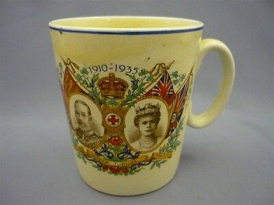 Vintage Royalty 1935 Silver Jubilee King George V Queen Mary Mug Cup Ideal