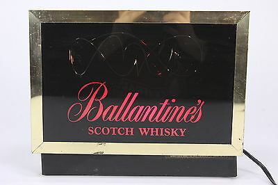 Ballantine's Scotch Whisky Vintage Electric Sign W Red White Turquoise Scrolling