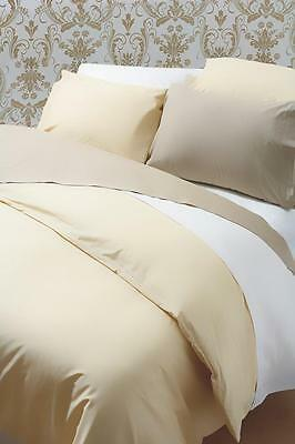 200tc Egyptian Cotton Box Pleat Platform Valance in Ivory Double Bed