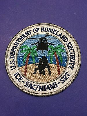 Us Department Of Homeland Security Miami  Shoulder Patch