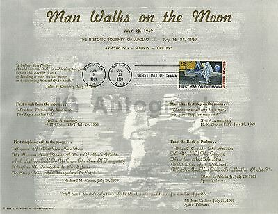 """Apollo 11 - First Day Issue Postage Certificate - """"Moon Landing"""" - 1969"""