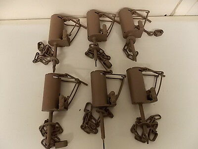 6 Duke Dog Proof Animal Traps  Tool Tools Trapping Supplies Raccoon Coon Cuff