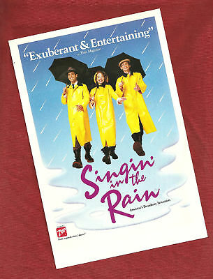 SINGING IN THE RAIN ORIGINAL LARGE POSTER! 24 x 36 NICE!
