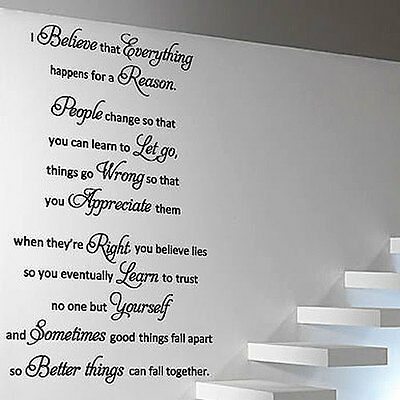 MARILYN MONROE I Believe Art Quote Wall Stickers Wall Decals--size 2 132