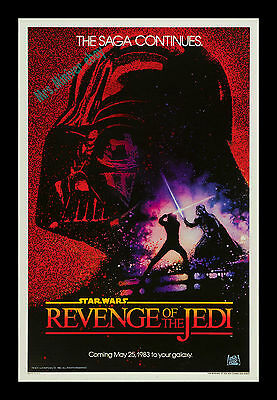 AUTHENTICATED! Star Wars ☆ REVENGE OF THE JEDI ☆ NM ROLLED Original MOVIE POSTER
