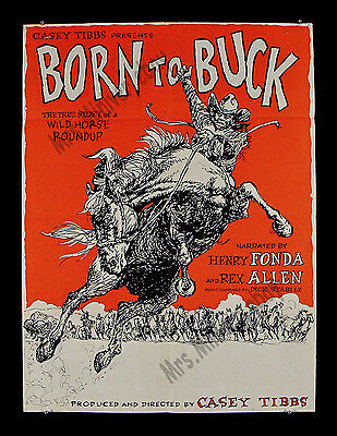 "CASEY TIBBS - ""BORN TO BUCK"" SPECIAL 30x40 inch 1966 MOVIE POSTER - Henry Fonda!"