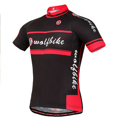 Red-Black Men's Cycling Bike Jersey Bicycle Outdoor Sports Shirt Chest 39 Inch