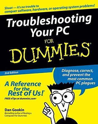 Troubleshooting Your PC For Dummies by Gookin, Dan Paperback Book The Cheap Fast