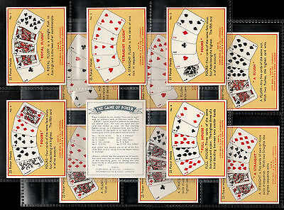 """Cope 1936 Interesting ( Card Game ) Full 25 Card Set  """""""" The Game Of Poker """""""""""