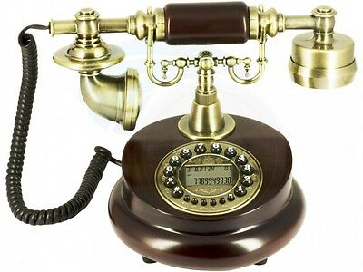 Decorative Antique Wooden Telephone Digital Screen Number Call Display