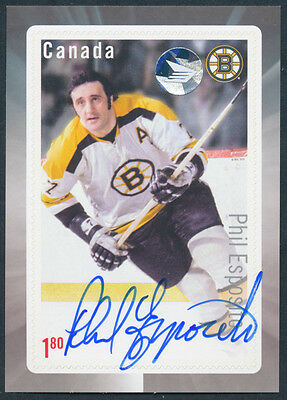 Phil Esposito Autograph Signed S/S, 2016 Great Canadian Hockey Forwards Issue