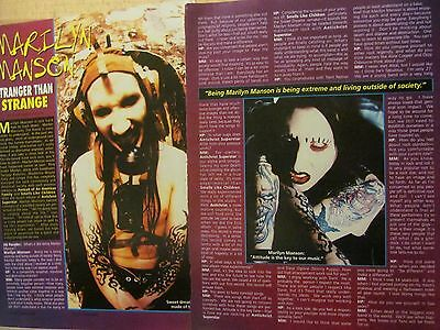 Marilyn Manson, Two Page Clipping