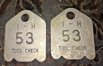 International Harvester Tool Check Tags Matching set #53
