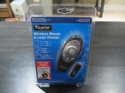 NEW Quartet Wireless Mouse and Laser Pointer Black 84503 School College Class