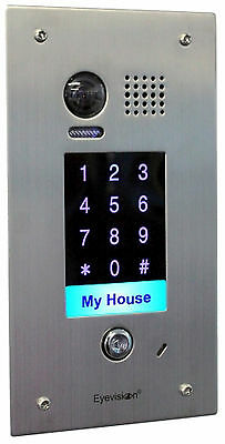 Add-On Recess mount Stainless steel doorstation with keypad for Eyevision 2 wire