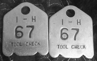 International Harvester Tool Check Tags Matching set #67