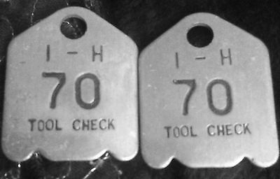 International Harvester Tool Check Tags Matching set #70