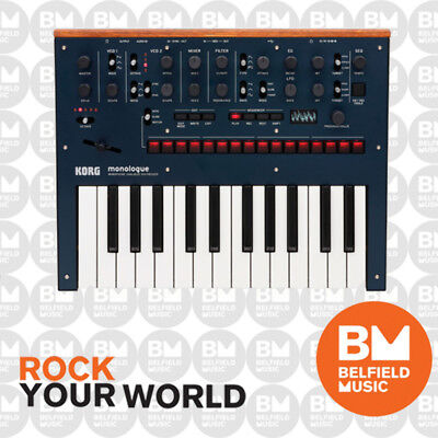 Korg Monologue Blue Monophonic Analogue Synthesizer Synth Synthesiser - BNIB