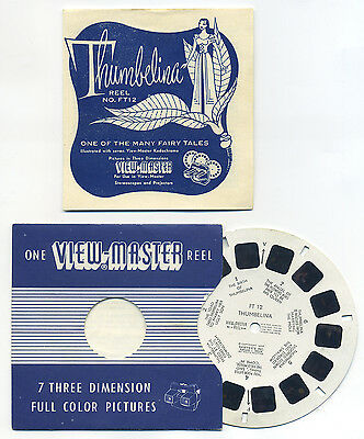 THUMBELINA 1953 Belgium-made Fairy Tale ViewMaster Reel FT-12