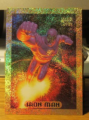 Iron Man Gold Holofoil 1994 Marvel Masterpieces Card #5 of 10