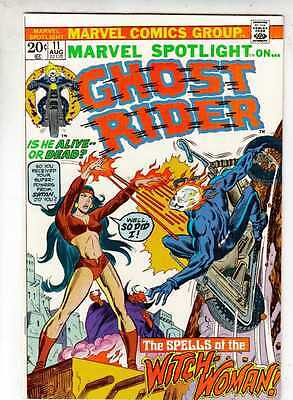 Marvel Spotlight 11 on Ghost Rider strict VF/NM 9.0 1973  Spells of Witch Woman!