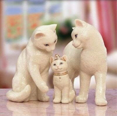Lenox Our Purrfect Princess Cat Family 3pc Figurine Set NEW IN BOX