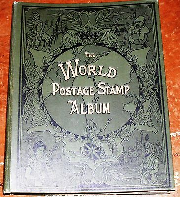 World Postage Stamp Album c 1900 NO STAMPS and USED