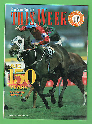 #D285. HORSE RACING SPECIAL MAGAZINE, 150 YEARS OF AJC, February 1992
