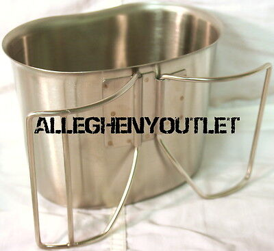 Military Type Stainless Matte BUTTERFLY CANTEEN CUP Fits 1 Qt USGI Canteen NEW