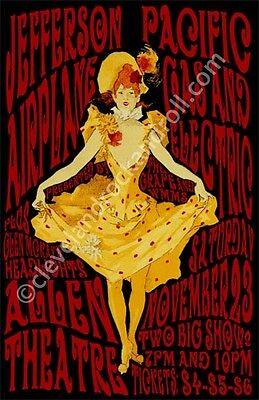 Jefferson Airplane 1968 Cleveland Concert Poster