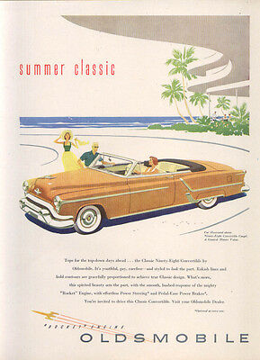 Summer Classic Rocket Engine Oldsmobile 98 ad 1953