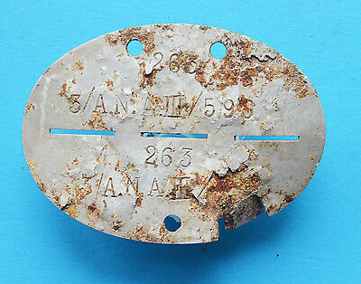 WW2 German Soldier tag token. Army Communications Division