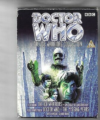 DOCTOR WHO - THE ICE WARRIORS & THE MISSING YEARS 2 VHS BOXED SET  with CD