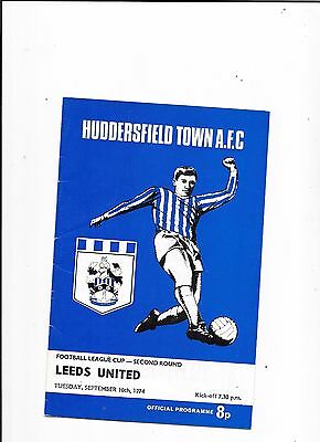Huddersfield Town v Leeds United League Cup 10/9/1974