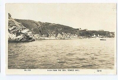Postcard View from The Sea Cemaes Bay Anglesey Tregele Neuadd Llanbadrig RP