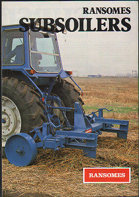 """Ransomes Tractor """"Subsoilers"""" Brochure Leaflet"""