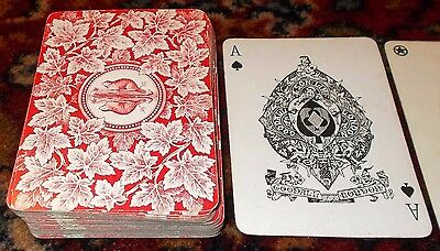 ANTIQUE PLAYING CARDS GOODALL BEAVER AND MAPLE 52 WIDE CARDS LATE  c.1900  52+J