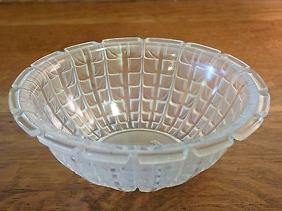 "Vintage Lalique Clear Frosted ""Acacia"" Bowl : No 3250 c.1928"