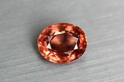 1.180Cts Amazing Top Luster Best Cut 100% Nr!!! Unique Color Malaya Garnet Aaa++