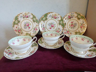 "Tuscan / Paragon English Bone China ""windsor"" Stunning 9 Piece Wide Cup Tea Set"