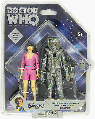 """DR WHO 5"""" FIGURES  Doctor Who Peri and Rogue Cyberman WEEK END OFFER"""