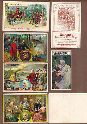FAMOUS MEN: Collection of RARE Victorian Trade Cards from GERMANY (1899)Q