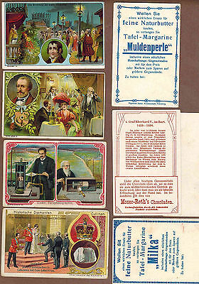 FAMOUS MEN: Collection of RARE Victorian Trade Cards from GERMANY (1899)R