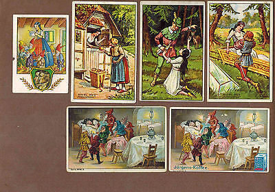 SNOW WHITE: Collection of RARE Victorian Trade Cards from GERMANY (1899)