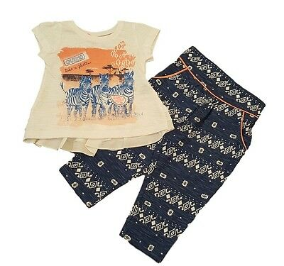 Girls Kids Baby Set Outfit Top Tshirt and Trousers Hareem Pants Summer Africa