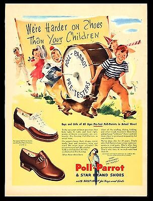 """Original1946 """"poll Parrot Shoes"""" Children's Marching Band Art Print Ad"""