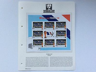 Block Of 9 X Italy World Cup Football Championship, France. 1998.