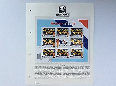 Block Of 9 X Columbia World Cup Football Championship, France.  1998.